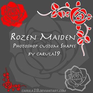 Photoshop custom shapes rose, corner