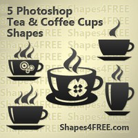 5 Coffee & Tea Vector Shapes Set