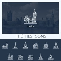 11 Cities Icons