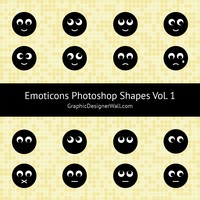 Emoticons Photoshop Custom Shapes