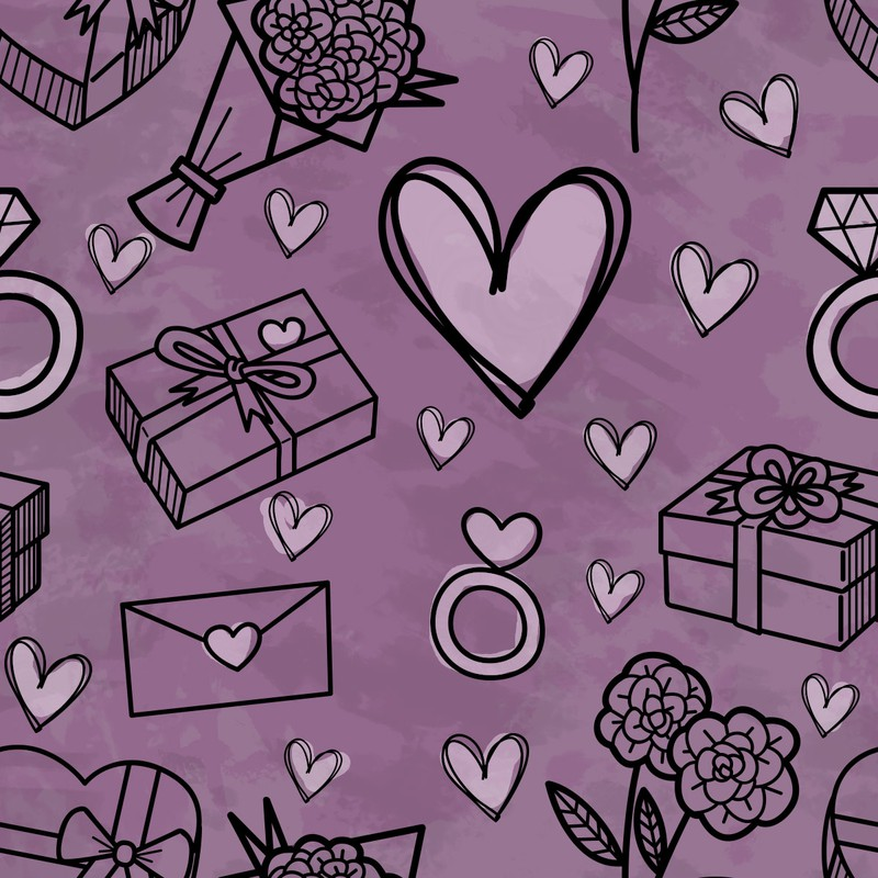 Photoshop custom shapes heart, gifts, pattern