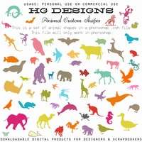 Animal Custom Shapes