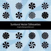 Sunburst Vector Silhouettes