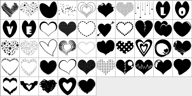 free 45 heart custom shapes photoshop custom shapes
