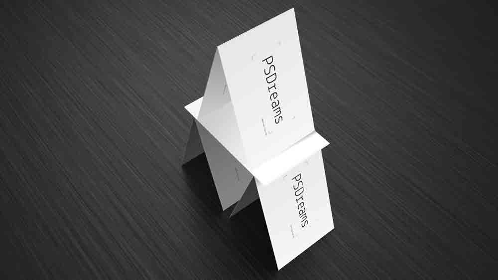 Pyramid of Business Cards - Photoshop psd
