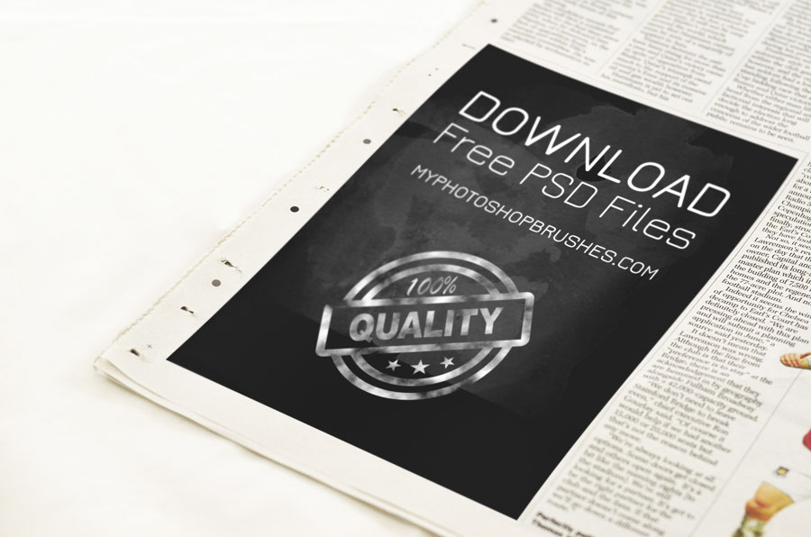 Newspaper Advert Template Photoshop Psd
