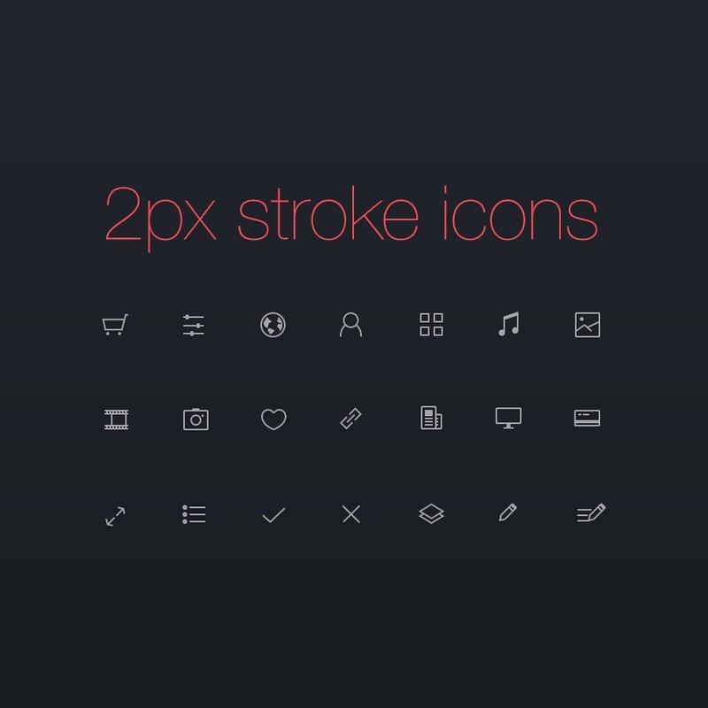 Photoshop psd icons, minimalistic