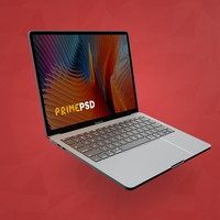 Floating Macbook Pro Mockup Free PSD