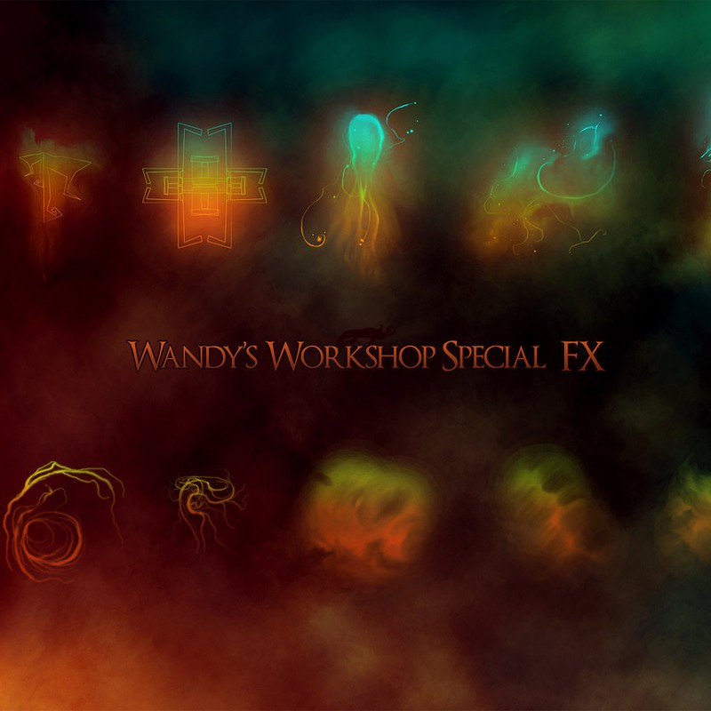 Photoshop brushes abstract, shapes, smudges