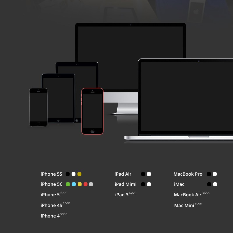 Photoshop psd Apple Devices