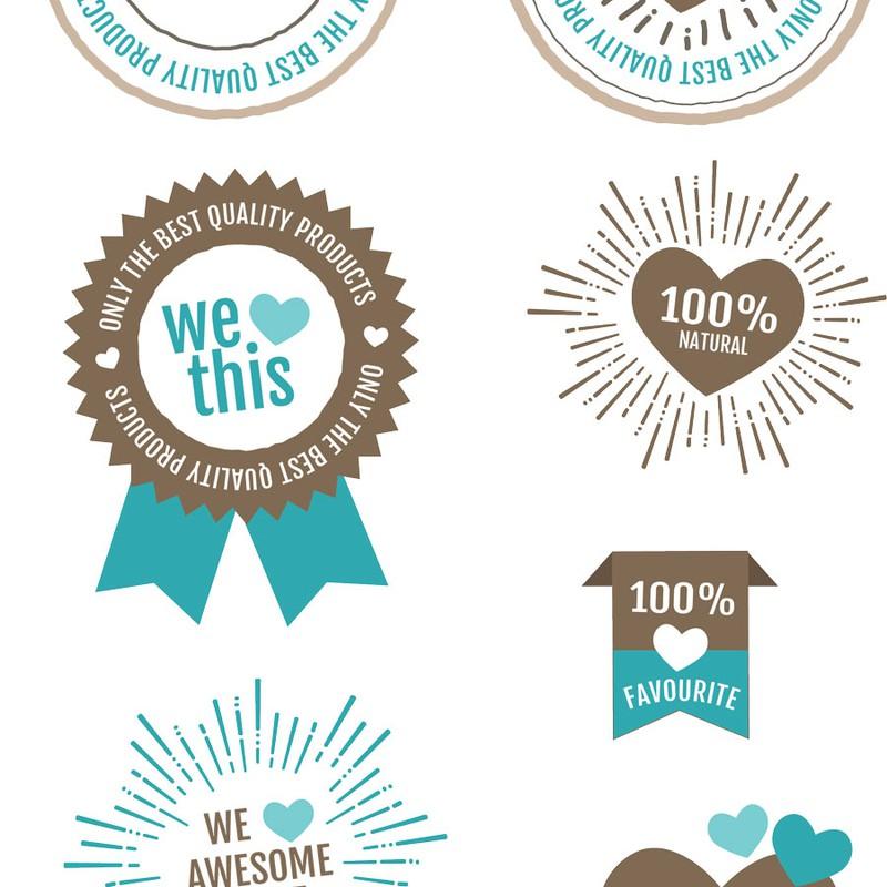 Photoshop psd badge, sticker, label, tag, vintage