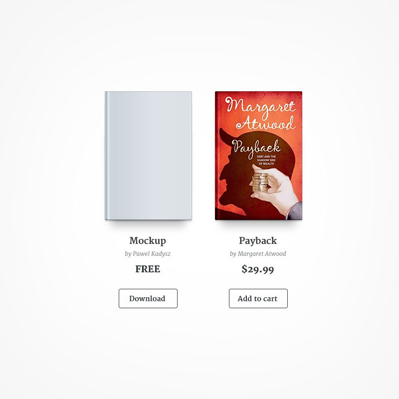 Photoshop psd book,mockup,cover