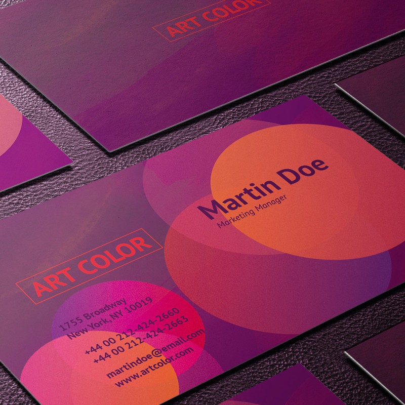 Photoshop psd business, card