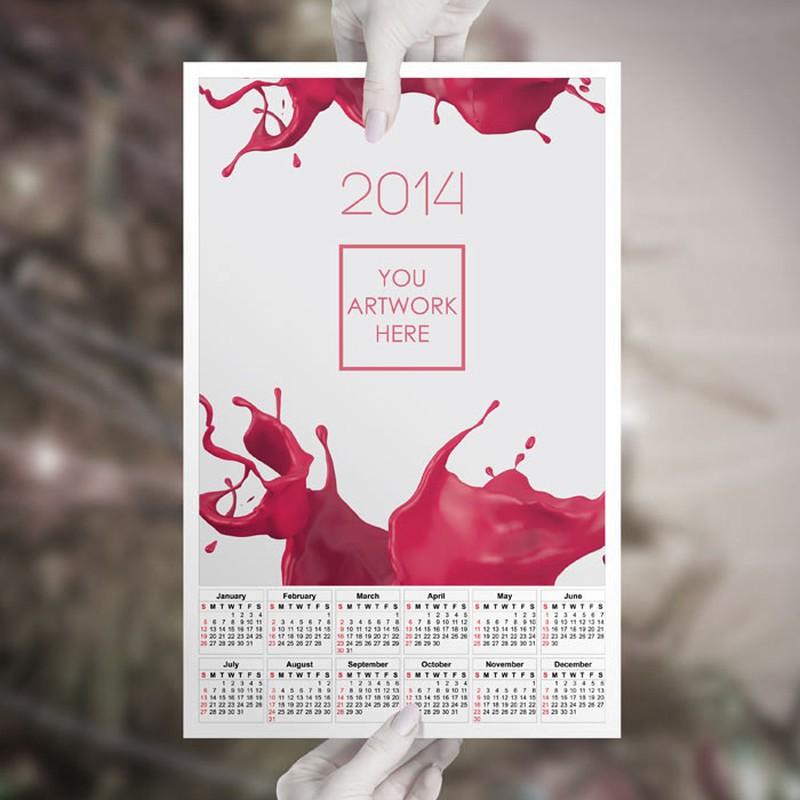 Photoshop psd calendar, template