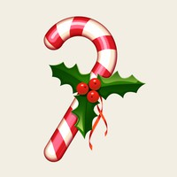 Free Candy Cane PSD