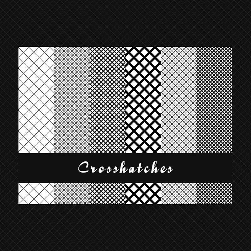 Photoshop patterns crosshatches, lines