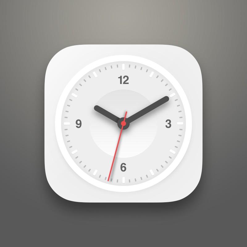 Photoshop psd clock