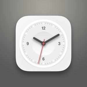 Free PSD Flat Clock
