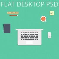 Flat Desktop PSD