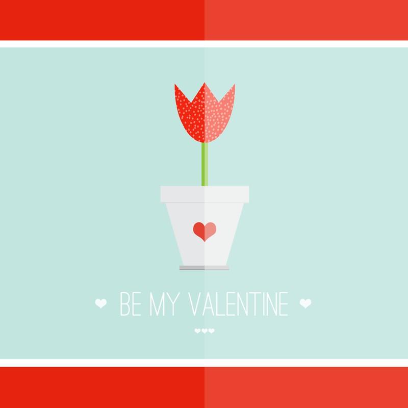 Photoshop psd valentine, card