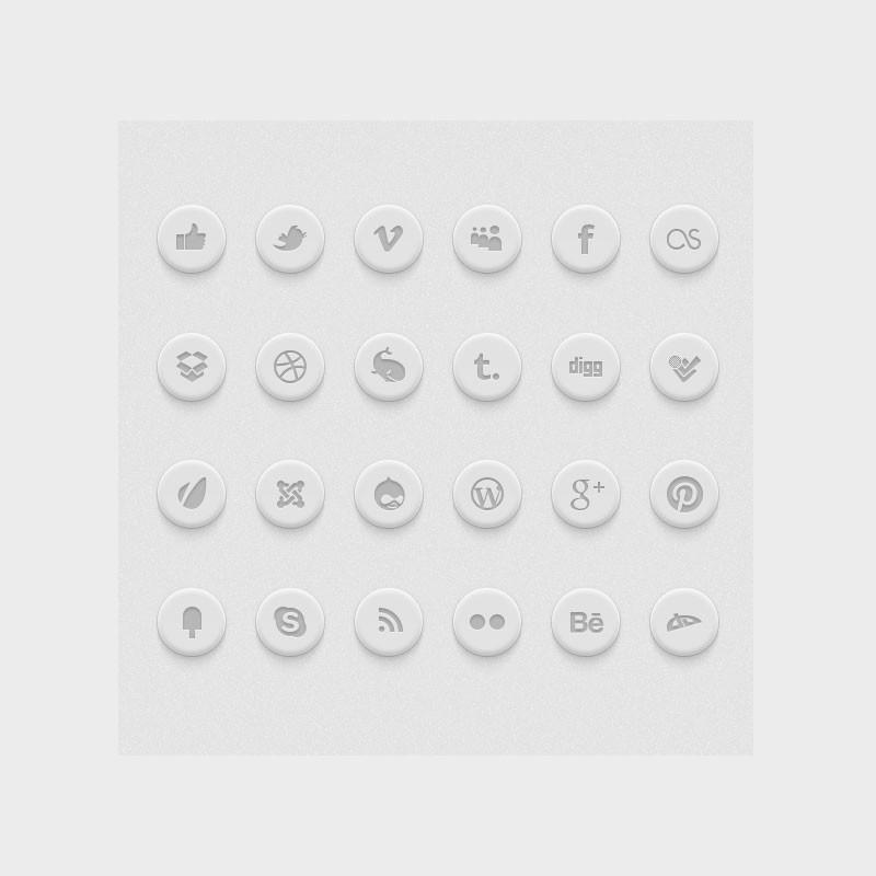 Photoshop psd social, icons