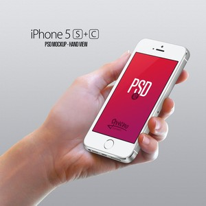 iPhone 5S and 5C PSD MockUp