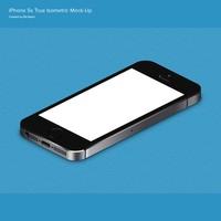 iPhone 5s True Isometric PSD