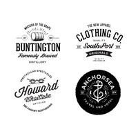 Free Vintage Logos Pack