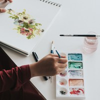 Watercolor PSD Mockup
