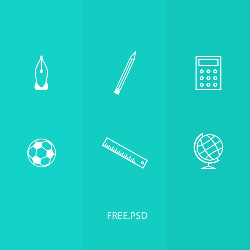 Photoshop psd school,icons