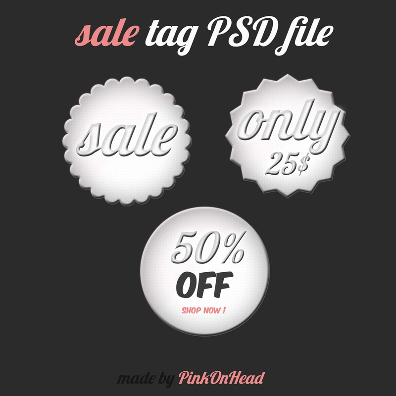 Photoshop psd sale tag