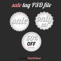Sale Tag Free PSD