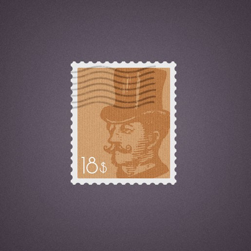 Photoshop psd post, stamp