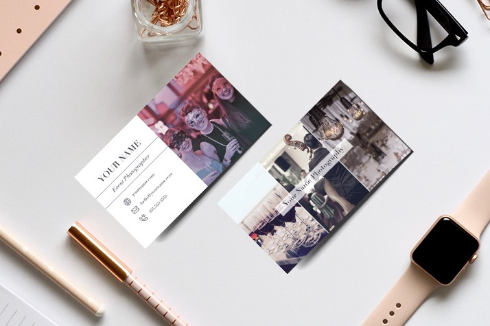 Photoshop psd template, business cards