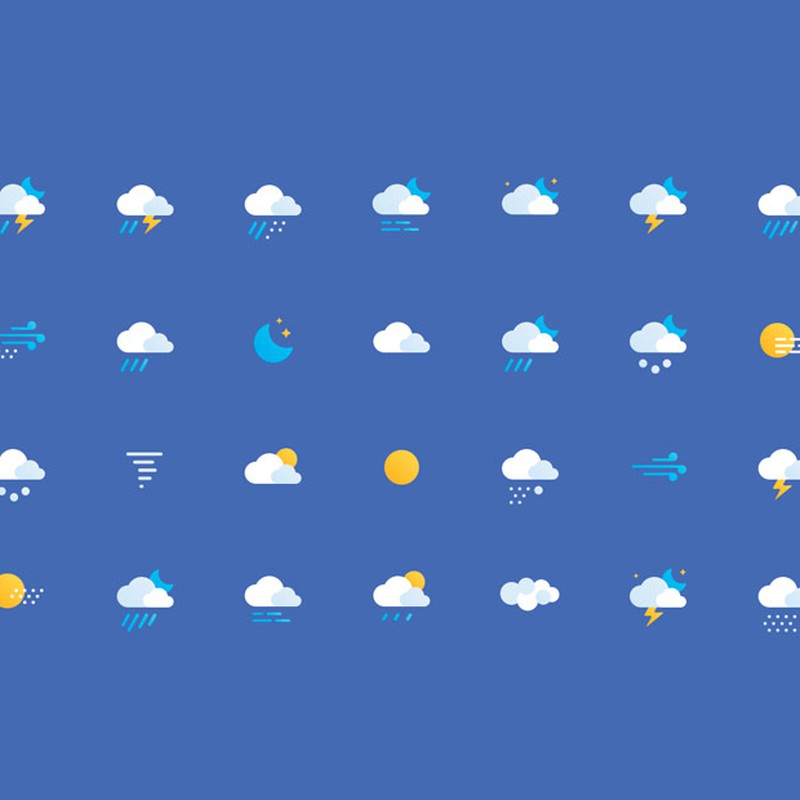 Photoshop psd weather, icons