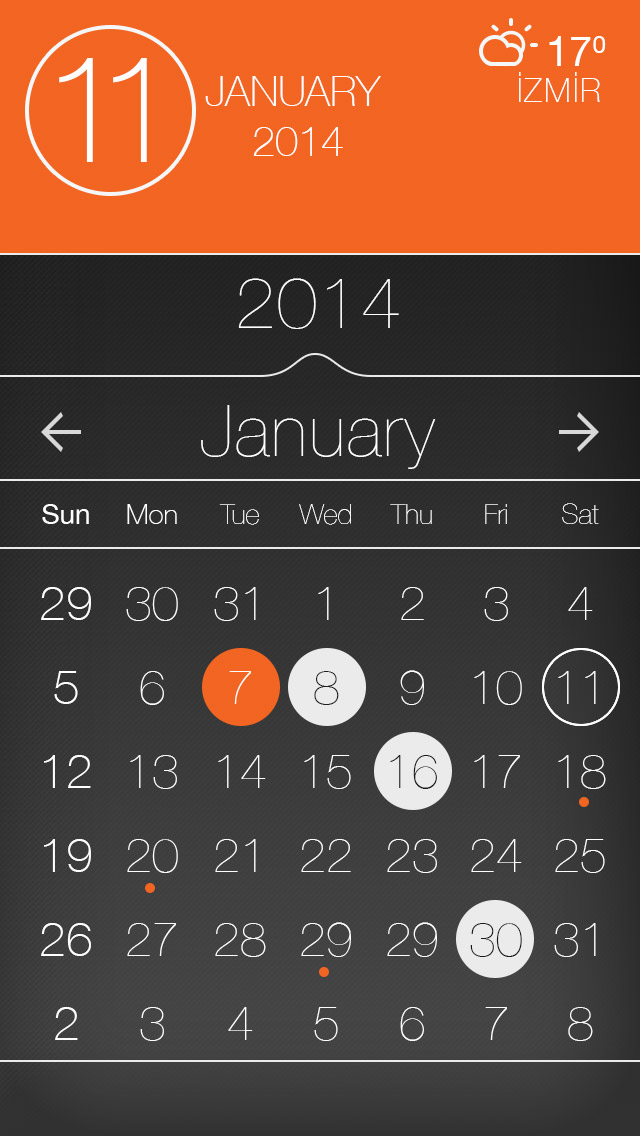 Calendar Design For App : Calendar app ui design photoshop psd