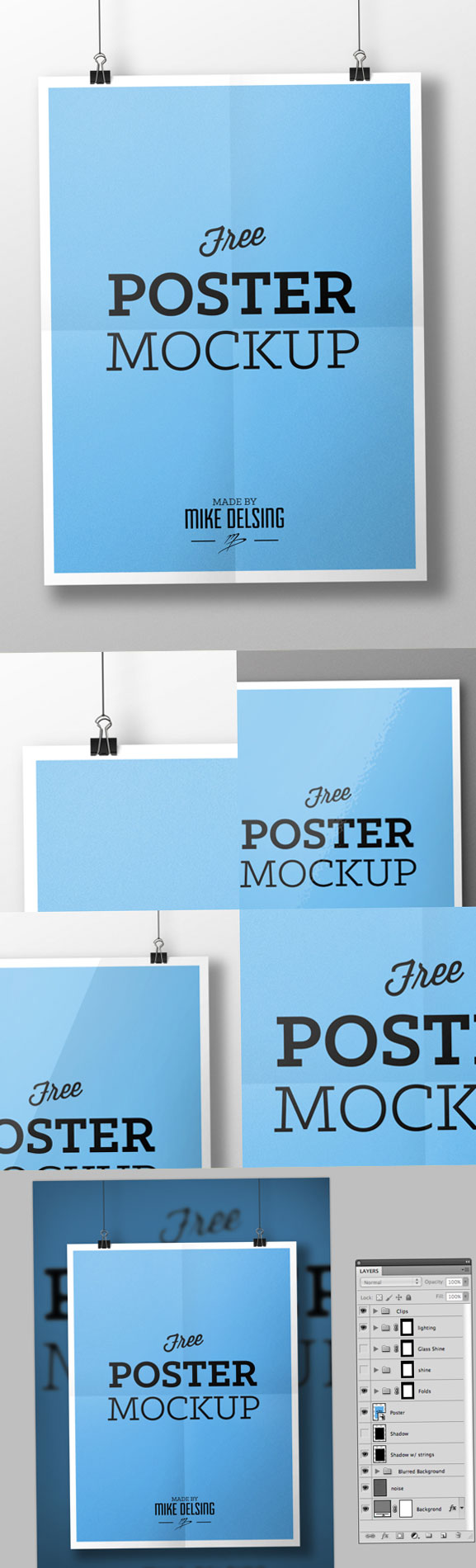 Psd poster mockup photoshop psd for What is a psd template