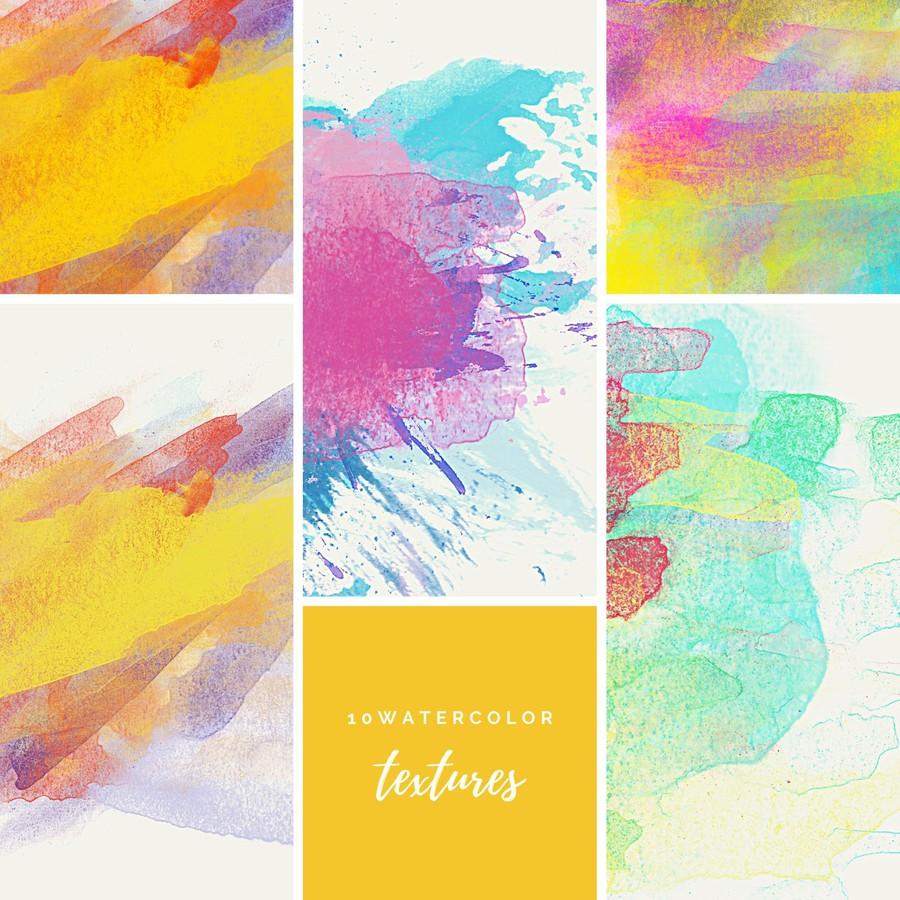 Photoshop textures watercolor, colorful, textures