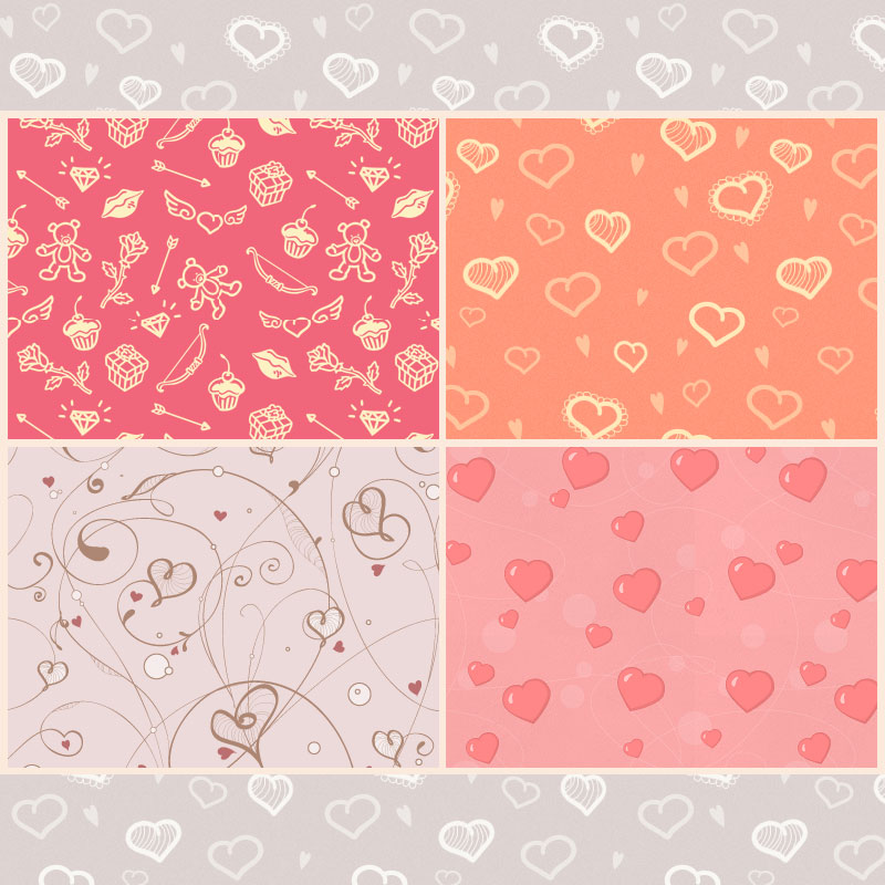 Free St Valentine\'s Day Patterns - Photoshop patterns