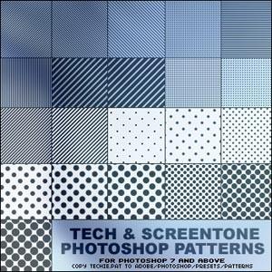 Photoshop patterns lines, tech, patterns