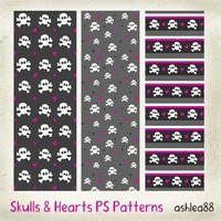 Skulls and Hearts PS patterns