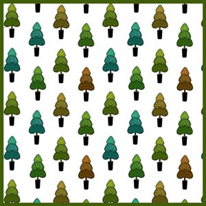Photoshop patterns christmas trees, pattern