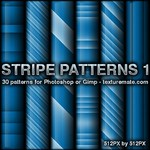 Blue Stripes 1 Pattern Set