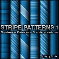 Blue Stripes 1 Pattern Set