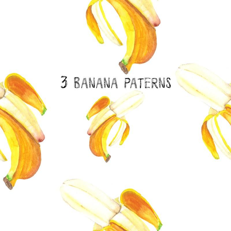 Photoshop patterns banana, pattern