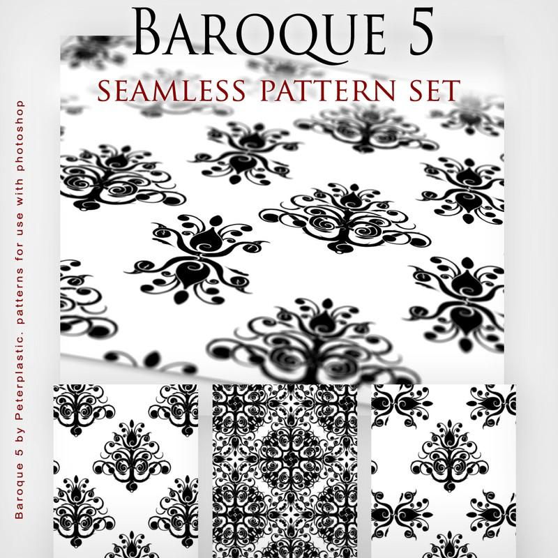 Photoshop patterns patterns, baroque