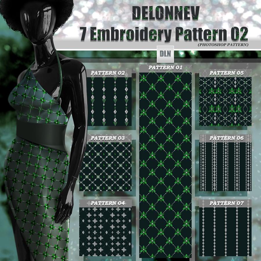 Photoshop patterns embroidery,seamless