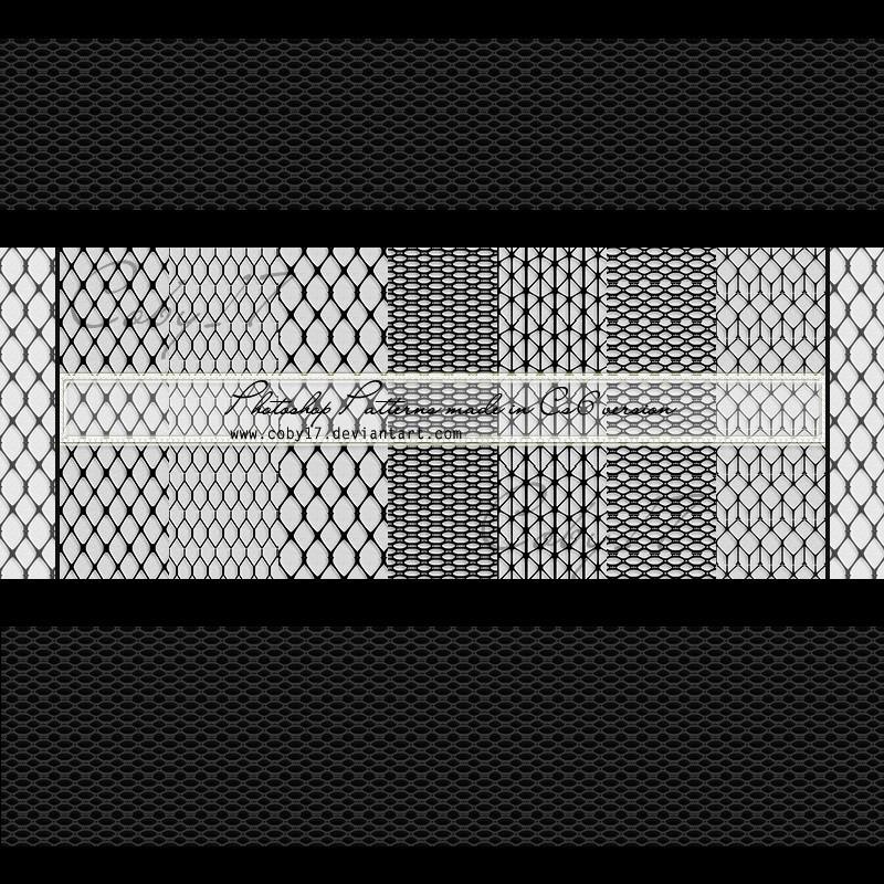 Photoshop patterns fishnet, mesh, pattern
