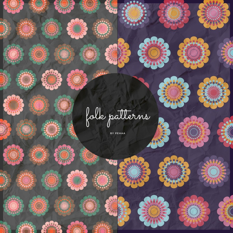 Photoshop patterns folk, pattern