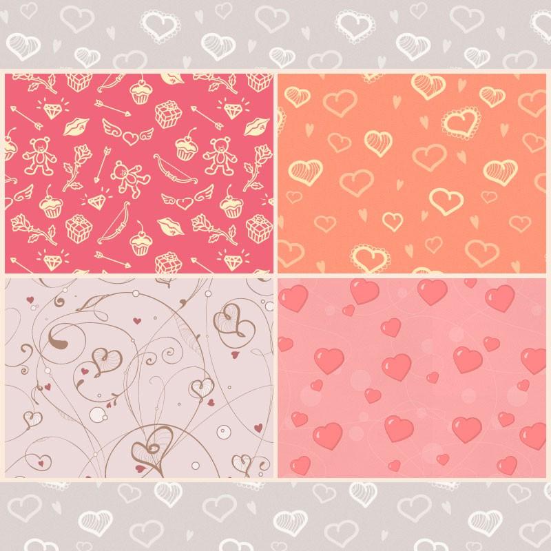 Photoshop patterns valentine,pattern,hearts